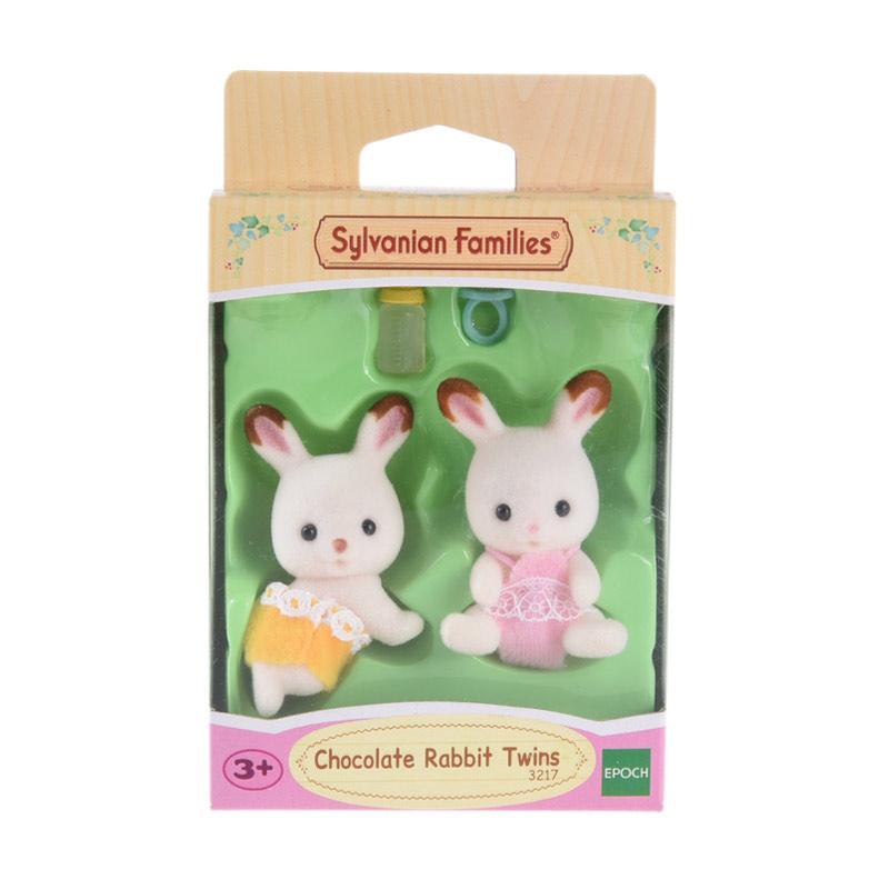 Sylvanian Families Chocolate Rabbit Twins Mainan Anak