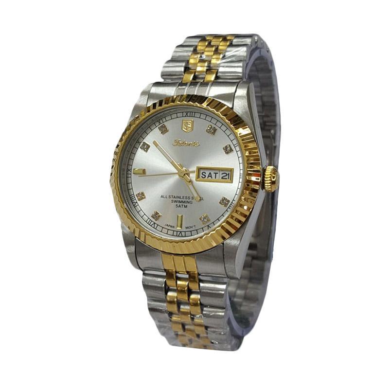 Tetonis T606L Jam Tangan Pria - Silver White Gold