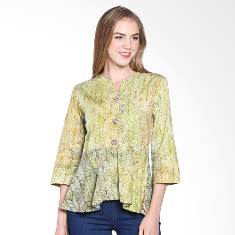 Batik Pria Tampan Women Wbl34-04081612c-Palm Feather Stripe Blouse