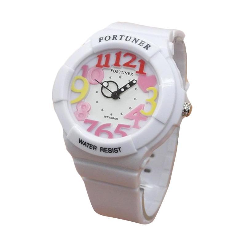 Fortuner FR J844 Sporty Rubber Strap Jam Tangan Wanita - Putih