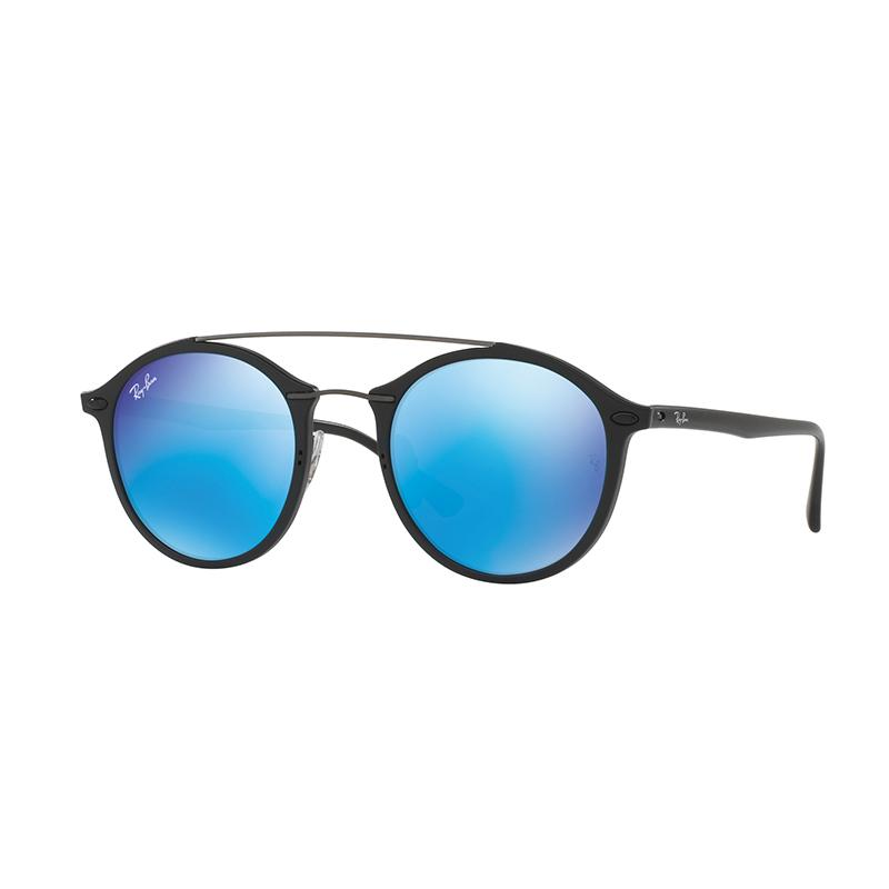 Ray-Ban Sunglasses RB4266 - Matte Black [601S55/Size 49/Light Green Mirror Blue]