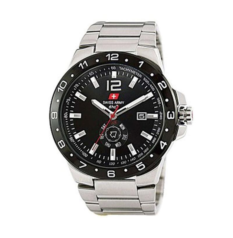 Swiss Army Sa8162m T Jam Tangan Pria Stainless Steel Silver Hitam Source · Swiss Army Stainless
