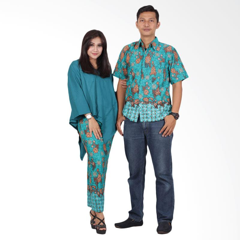 Batik Putri Ayu Solo srd202 Batik Couple Dress - Hijau