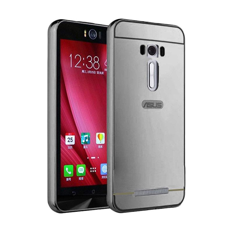 Bumper Mirror Sliding Casing for Asus Zenfone Selfie - Silver