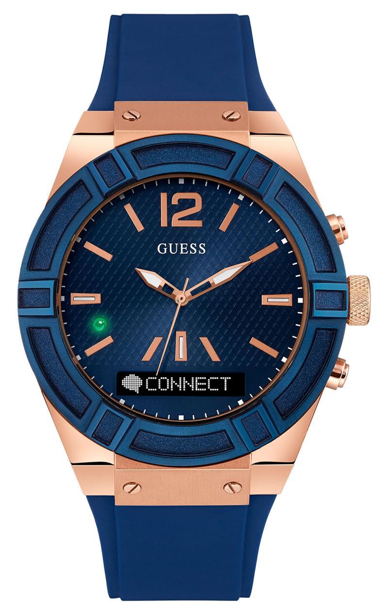 GUESS Connect SmartWatch C0002M1 Rubber Jam Tangan Wanita - Blue Rose Gold