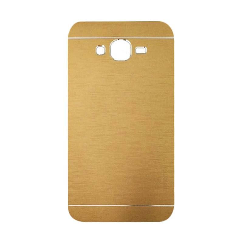 Motomo Metal Hardcase Backcase Casing for Samsung Galaxy A8 or A800F - Gold