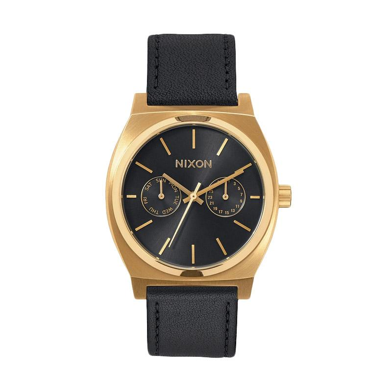 Nixon A9271604 Time Teller Deluxe Leather Analog Watch Jam Tangan Pria - Gold