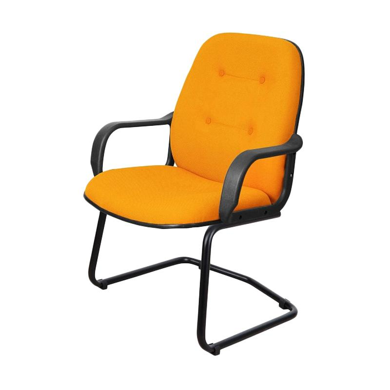 Uno London VAP-2 U-11 Small Armrest Office Chair - Orange [Khusus Jabodetabek]