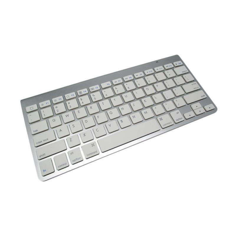harga OEM Keyboard Wireless Bluetooth for PC Imac/ iPad/ Android Tablet - Silver Blibli.com