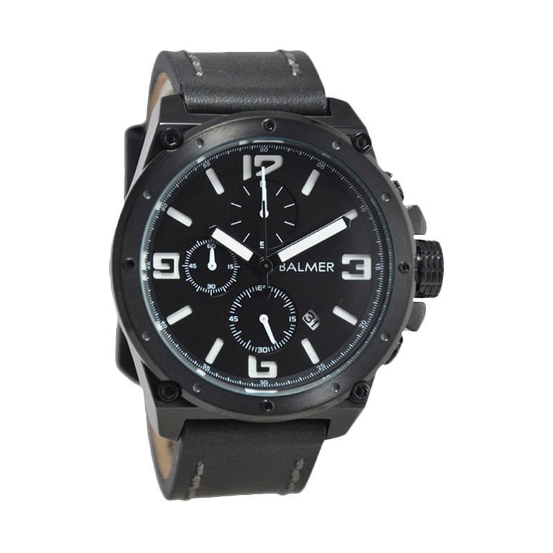 Balmer Casual D47H635BM7846MBHTMP Chronograph Leather Strap Jam Tangan Pria