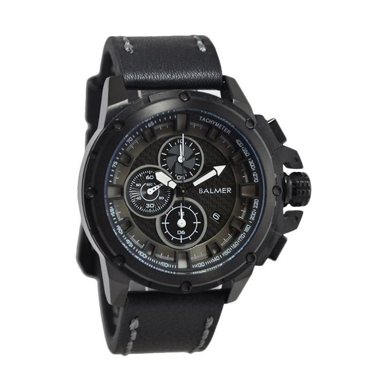 Balmer Casual Man D48H675B7905MHTM Chronograph Leather Strap Jam Tangan Pria