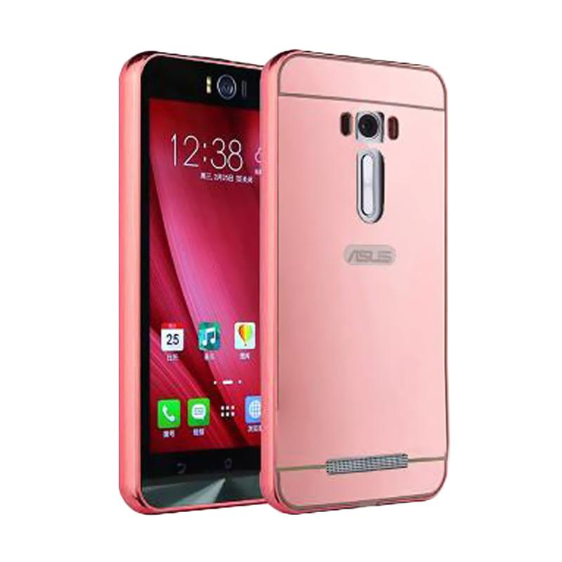 Bumper Mirror Sliding Casing for Asus Zenfone 3 5.2 Inch - Rose Gold