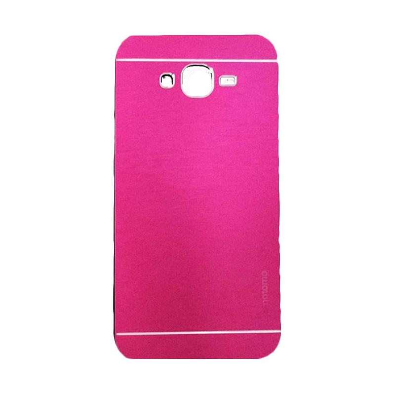 Motomo Metal Hardcase Backcase Casing for Samsung Galaxy E7 or E700 - Pink