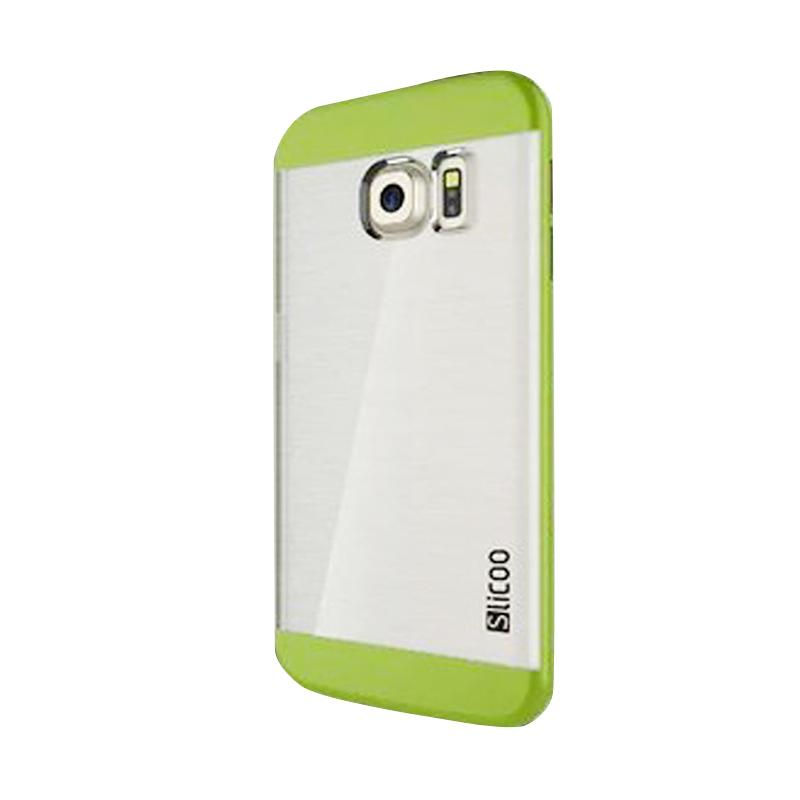 Slicoo Clear Back Cover Hardcase Casing for Samsung Galaxy S6 Edge - Hijau