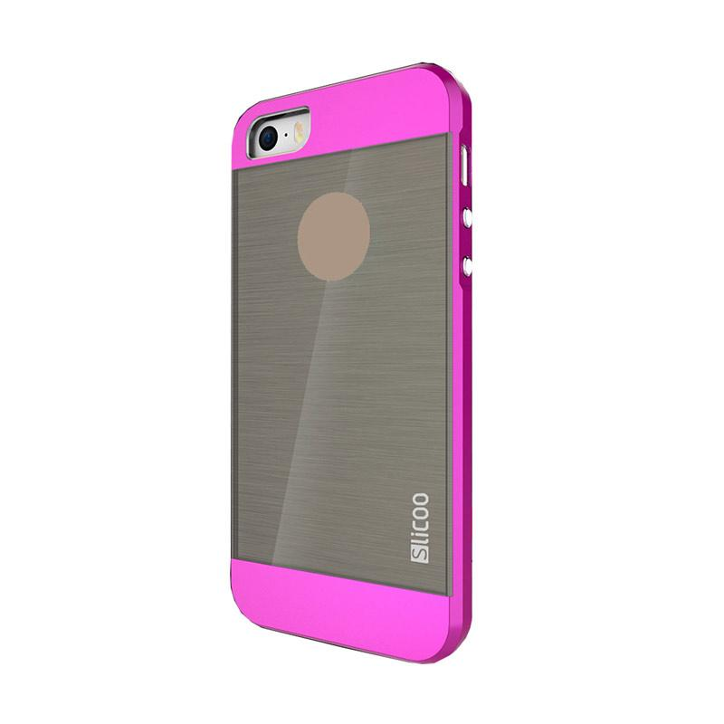Slicoo Clear Back Side Cover Hardcase Casing for Apple Iphone 5 or 5S - Pink