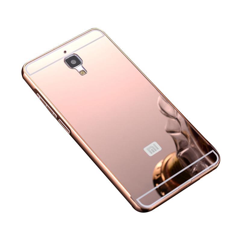 Bumper Case Mirror Sliding Casing for Xiaomi Redmi Mi4 - Rose Gold