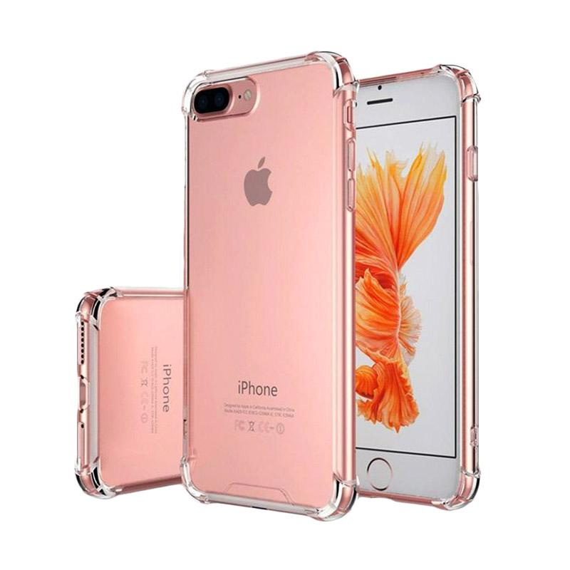 VR Softshell Anti Crack Anti Shock Softcase Casing for Apple iPhone 7 Plus / iPhone7 Plus / Iphone 7+ (Ukuran 5.5 Inch) - Transparan