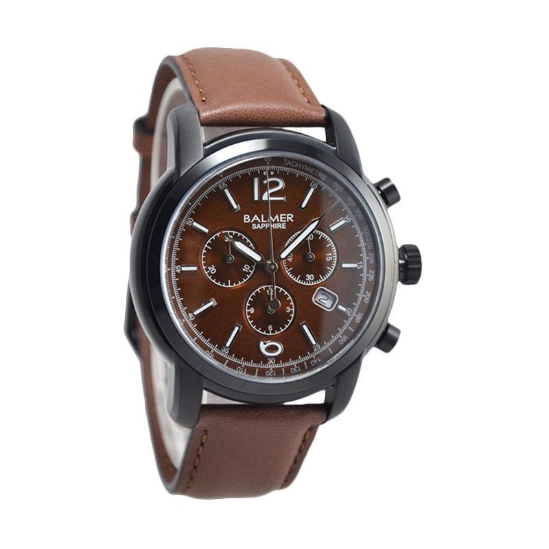 Balmer Sapphire D46H735BL7910MCKT Leather Strap Chronograph Jam Tangan Pria