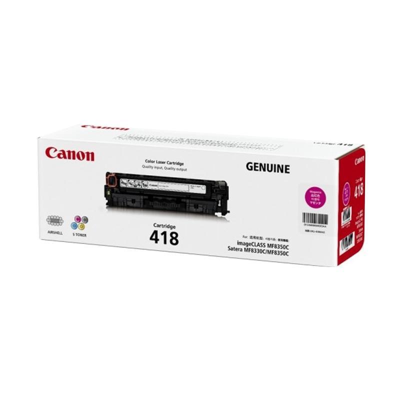 Canon 418 Original Toner untuk Mesin Fotocopy ICMF8350c/ 8380Cdw/ 8580Cdw - Magenta