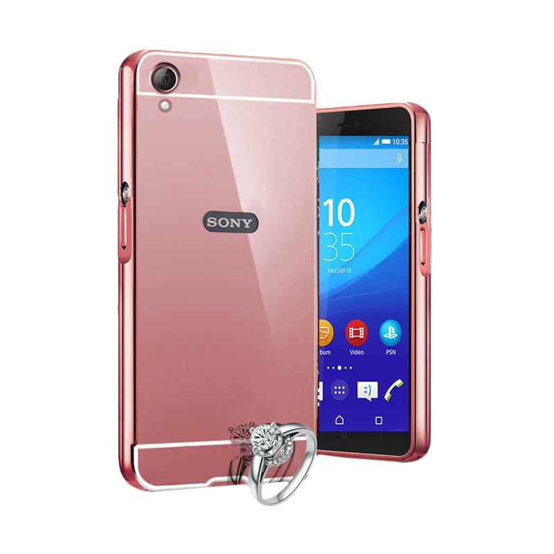 on sale 38b15 f510b Case Bumper Chrome with Mirror Sliding Casing for Sony Xperia Z3 - Rose Gold