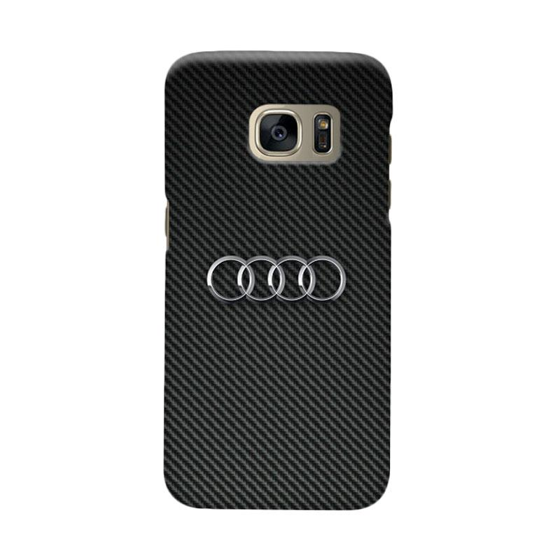 Indocustomcase Carbon Cover Casing for Samsung Galaxy S7