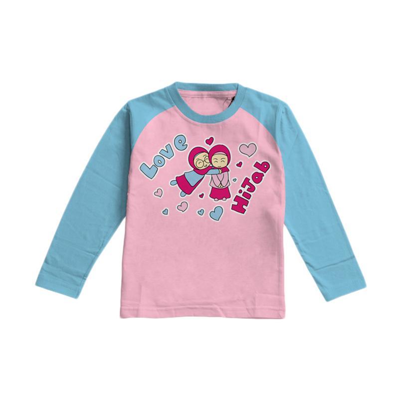 Aitana Kids AiK-16-015 All Love Hijab Kaos Muslim Anak Perempuan - Turkis Pink