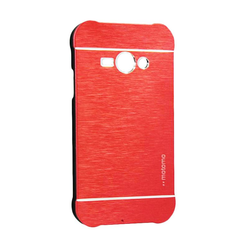Motomo Metal Hardcase Backcase Casing for Samsung Galaxy J1 Ace or J110 - Red