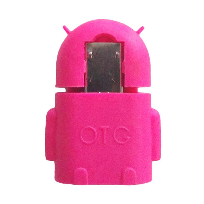 Orange Collections Robot Android OTG USB Adapter - Pink