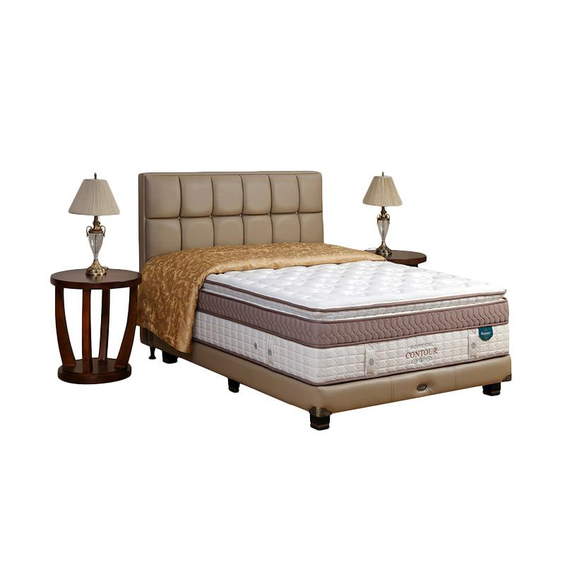 Guhdo Individual Contour Legacy Style Full Set Springbeds - Putih