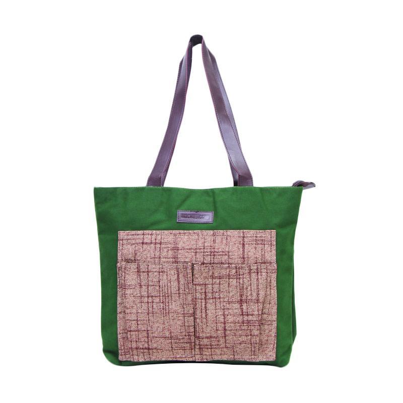 Machupicchu Tote Bag BTO-13 Tas Wanita - Dark Green & Brown Textured