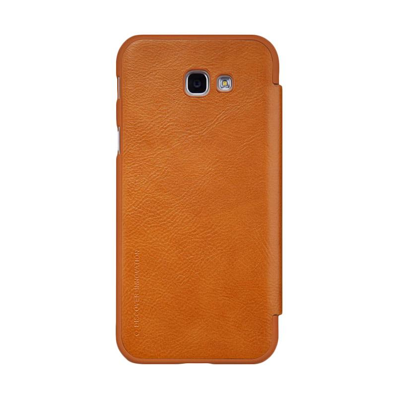 Nillkin Qin Leather Flip Cover Casing for Samsung Galaxy A7 2017 - Brown