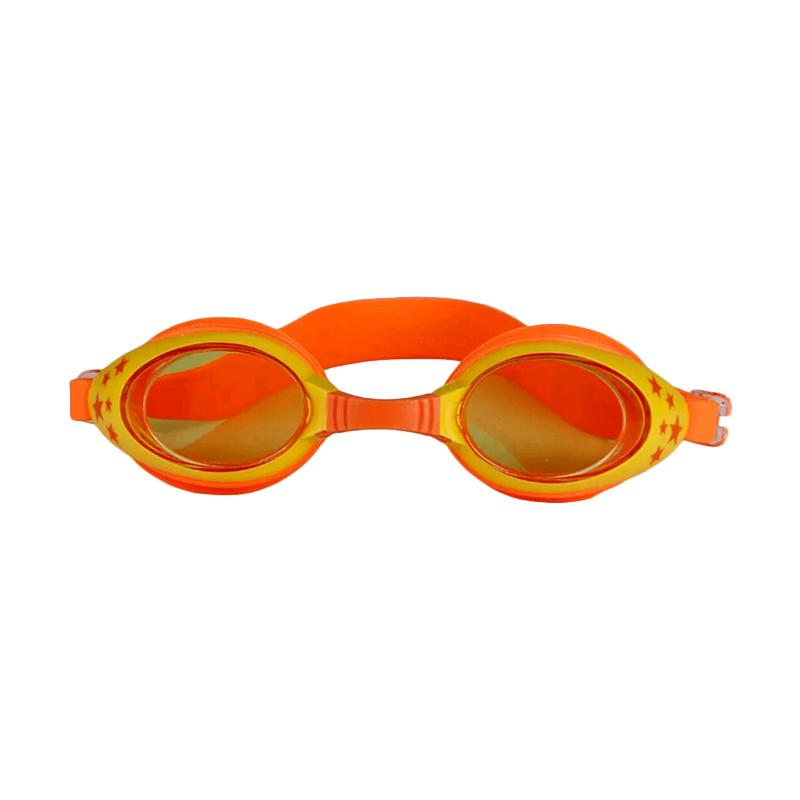 VR Swimming Googles Anti Fog UV Protection Kacamata Renang Anak - Orange