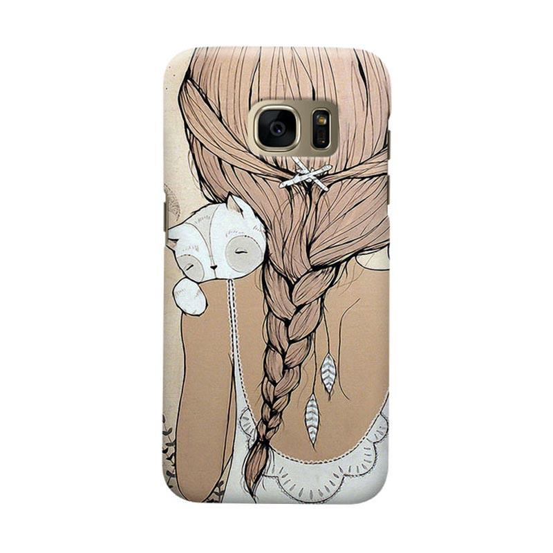 Indocustomcase Girls Cover Casing for Samsung Galaxy S7