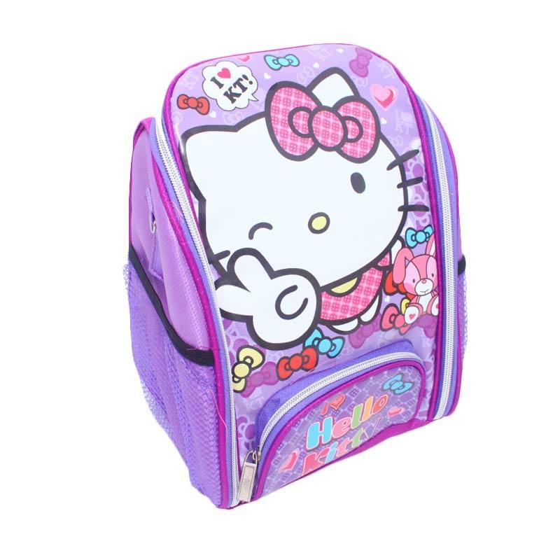 Istana Kado Online Tas Sekolah Anak Hello Kitty Tas Ransel - Ungu