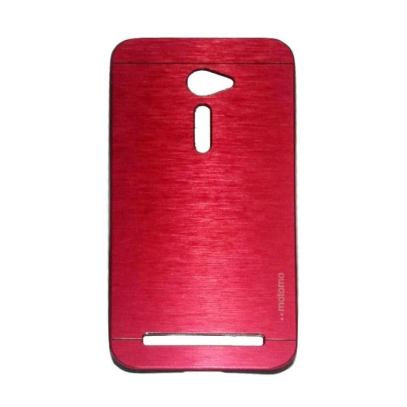 Motomo Metal Hardcase Backcase Casing for Asus Zenfone 2 ZE500CL 5.0 Inch - Red