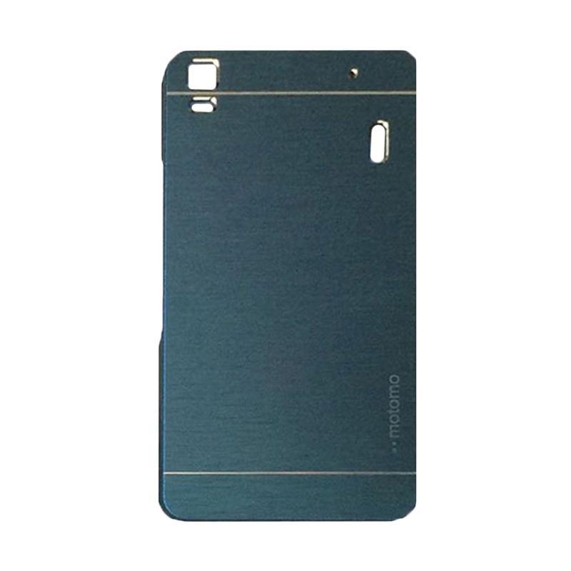Motomo Metal Hardcase Backcase Casing for Lenovo A7000 or K3 Note - Dark Blue