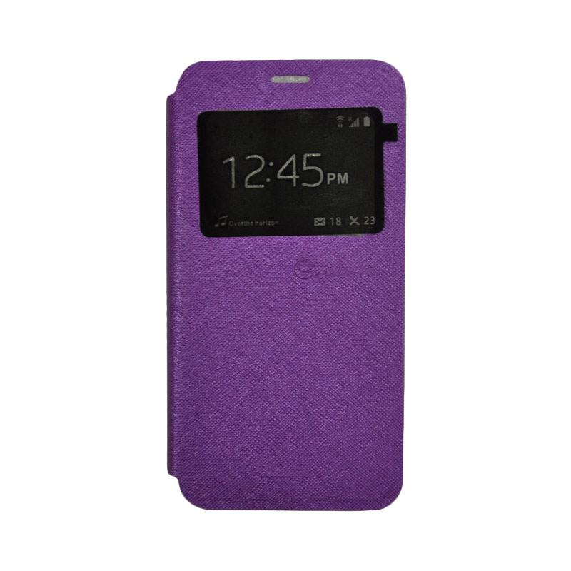 SMILE Standing Flip Cover Casing for Samsung Galaxy J2 Prime - Purple