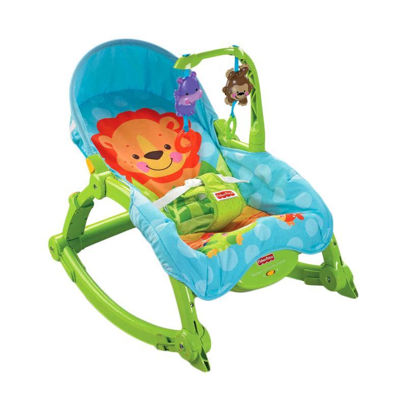 harga Fisher Price Newborn To Toddler Rocker Baby Bouncer - Blue Green Blibli.com