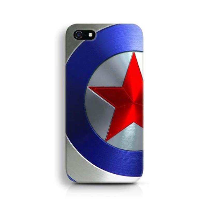 Indocustomcase Captain America Shield 2 Custom Hardcase Casing for Apple iPhone 5/5S/SE