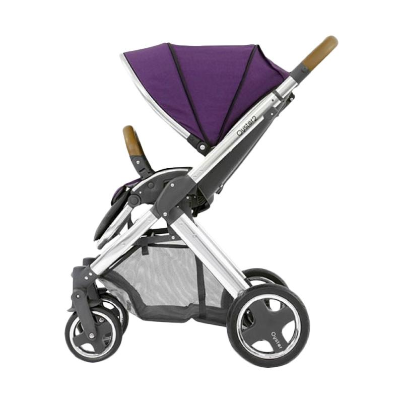 OYSTER 2 Stroller Bayi Mirror Seat Liner dan Cup Holder Purple [FREE Red Canopy]
