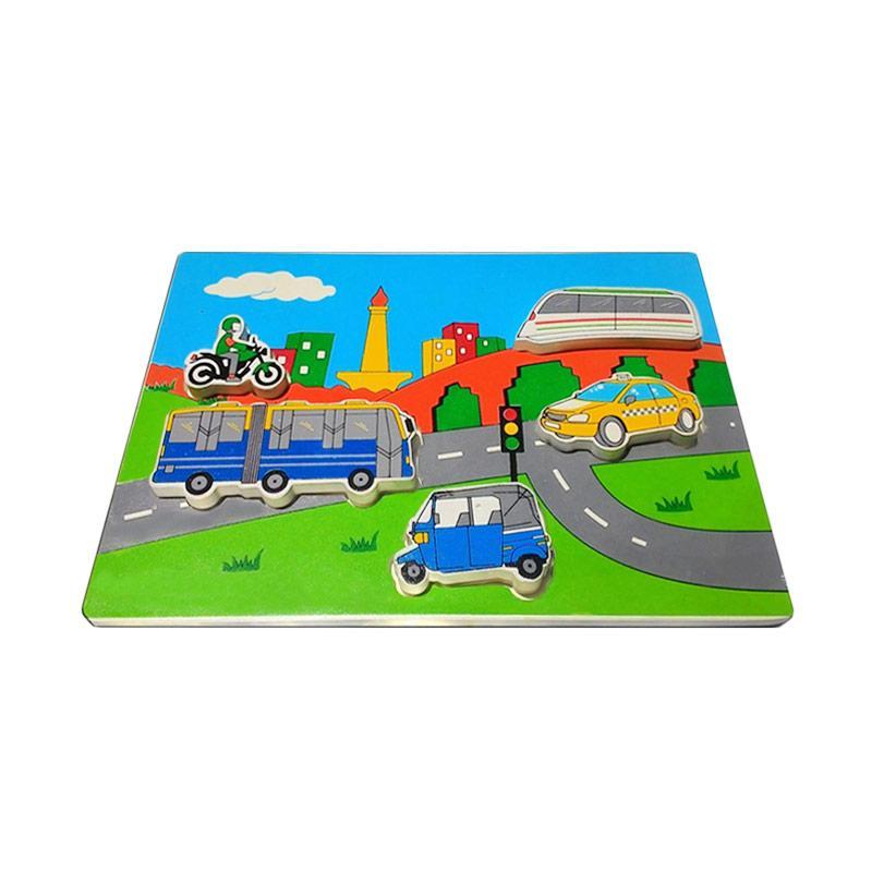 Istana Bintang Kayu Chunky Puzzle Transport JKT Mainan Anak