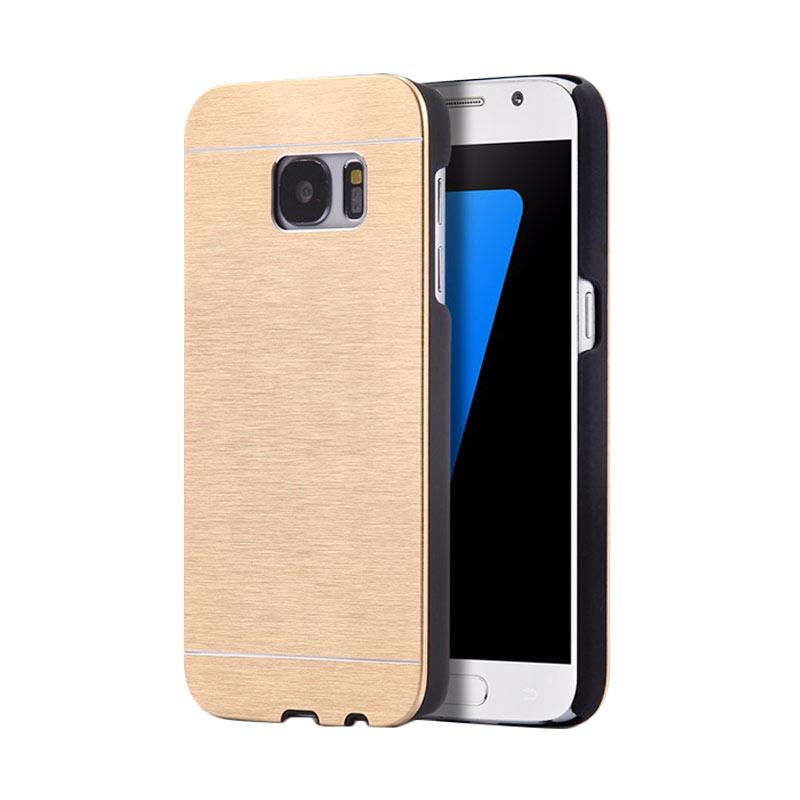 Motomo Metal Hardcase Backcase Casing for Samsung Galaxy S6 or G920 - Gold