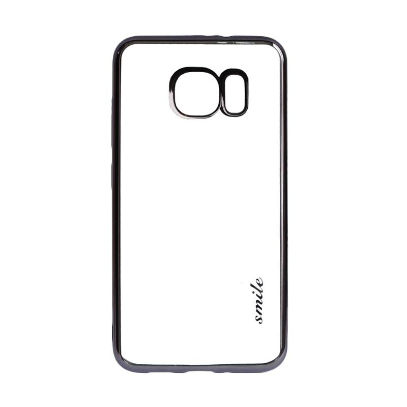 SMILE Ultrathin Shining List Chrome for Samsung Galaxy S7 Edge - Black
