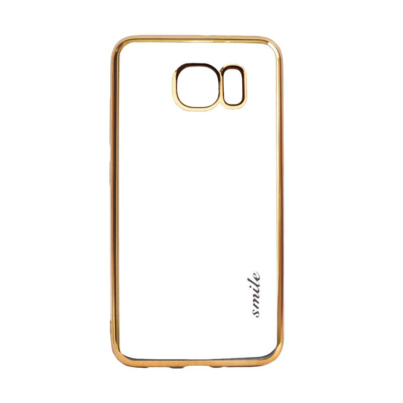 SMILE Ultrathin Shining List Chrome for Samsung Galaxy S7 Edge - Gold