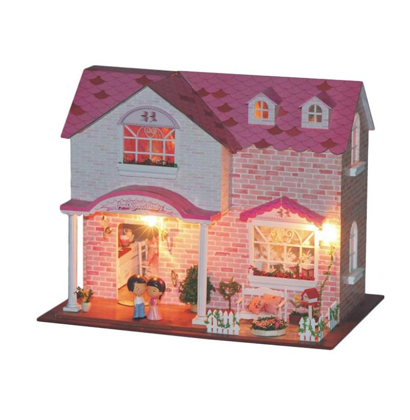 harga A1Toys DIY Istana Pengantin Plus Lampu & Music PS Rumah Miniatur Blibli.com