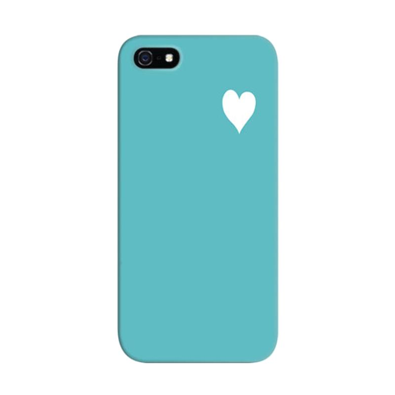 Indocustomcase Tosca Hearts Quote Custom Hardcase Casing for Apple iPhone 5/5S/SE