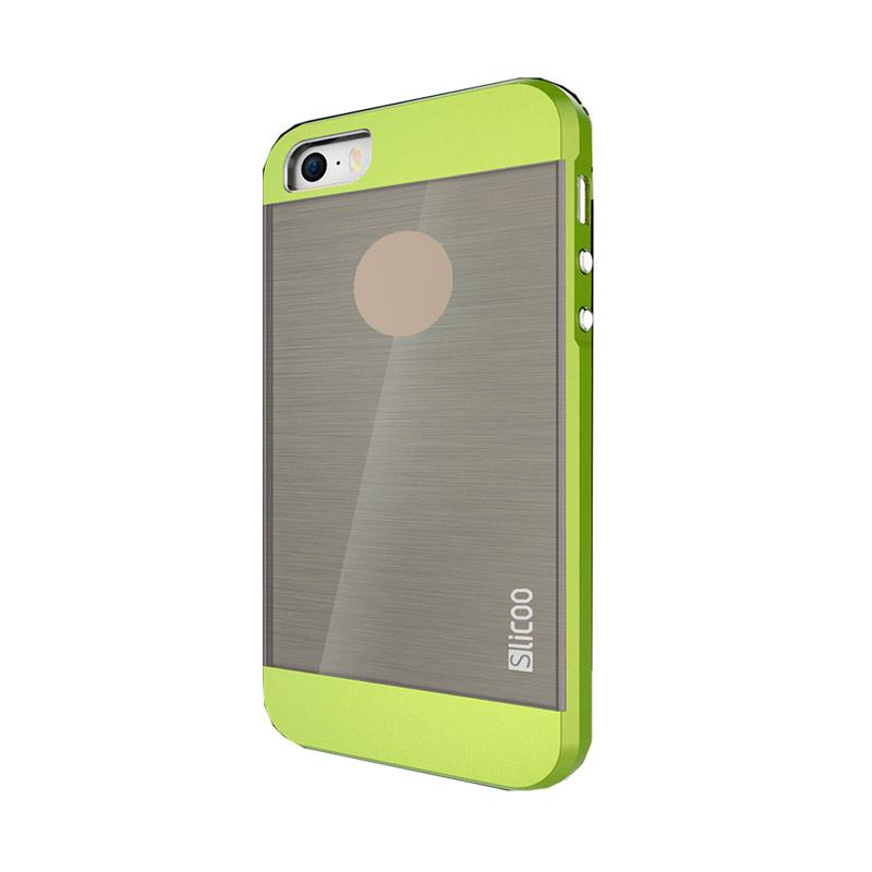 Slicoo Clear Back Side Cover Hardcase Casing for Apple Iphone 5 or 5S - Green
