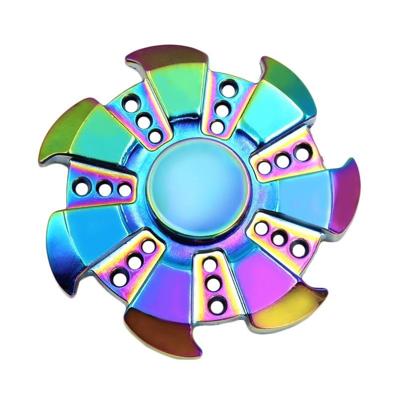 Rainbow Fidget Spinner Mainan Hand Spinner Premium 3 Circle Arms Source · Tingbelmart 7 Blades Arms