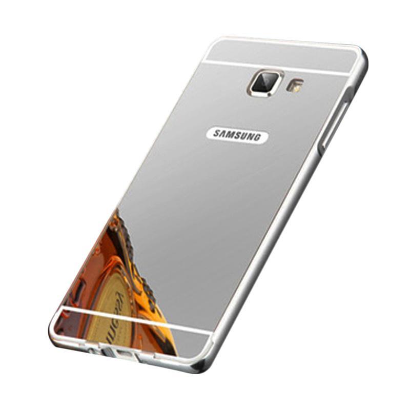 Bumper Case Mirror Sliding Casing for Samsung Galaxy A710 - Silver