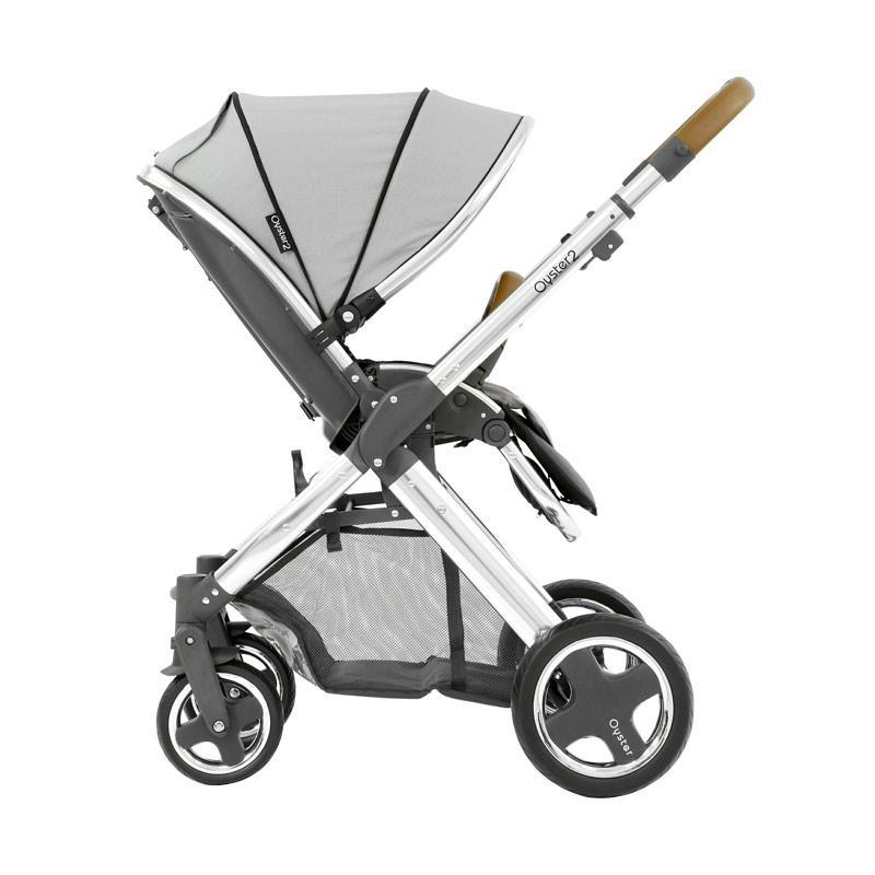 Babystyle Oyster 2 Stroller Kereta Dorong Bayi - Pure Silver